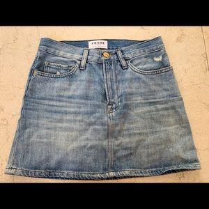 Frame denim jean mini skirt size 23